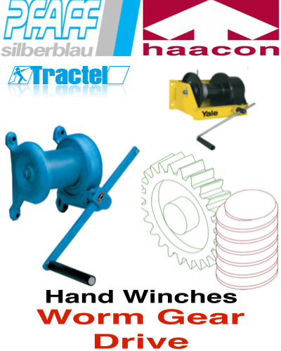 Hand Winches With Worm Gear Drive