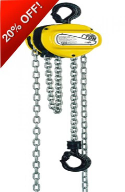 Yale 1 Tonne Chain Block Complete with Trolley