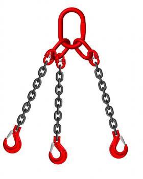 Grade 8 6mm 3 Leg 2.36 Tonne Chain Slings