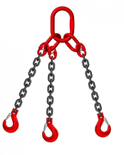 Grade 8 7mm 3 Leg 3.15 Tonne Chain Slings