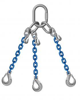 Grade 10 3 Leg 6mm Chain Slings 3.00 Tonne