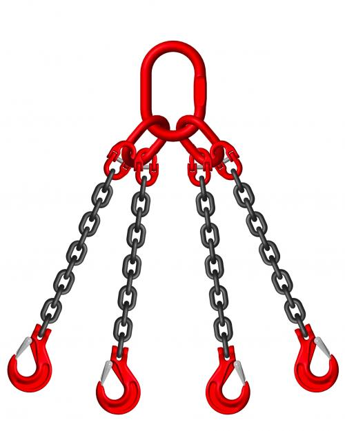 Grade 8 6mm 4 Leg 2.36 Tonne Chain Slings