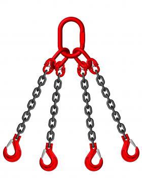 Grade 8 7mm 4 Leg 3.15 Tonne Chain Slings