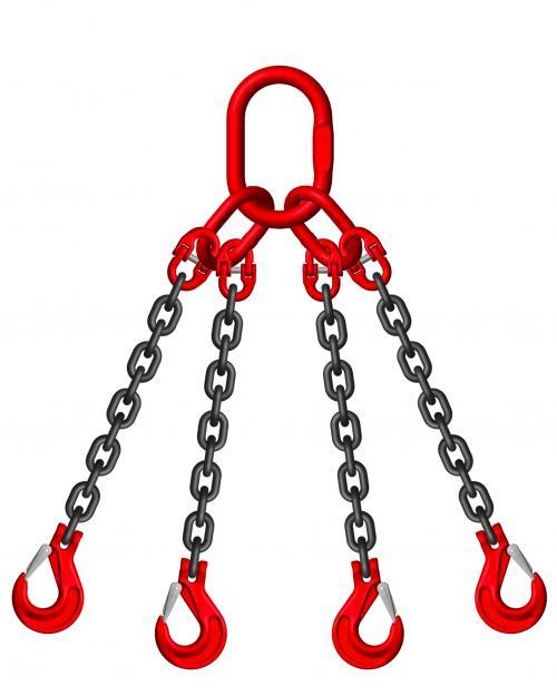 Grade 8 20mm 4 Leg 26.50 Tonne Chain Slings