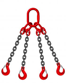 Grade 8 10mm 4 Leg 6.70 Tonne Chain Slings