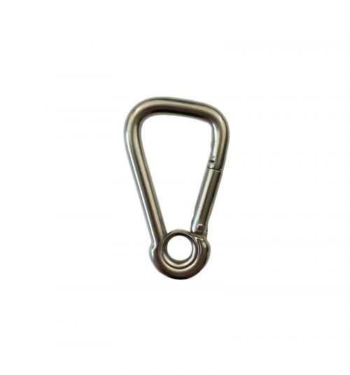 Stainless Steel Asymmetric Carbine Hook with Eyelet