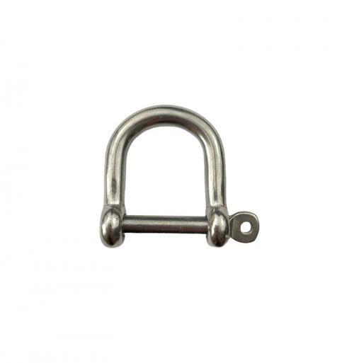 Stainless Steel Captive Pin Wide Jaw Dee Shackle