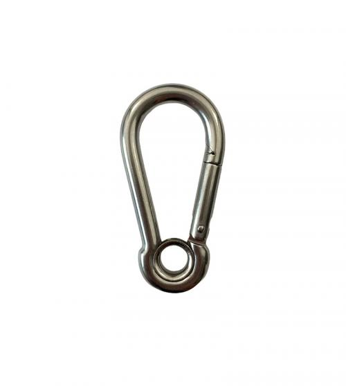 Stainless Steel Carbine Hook with Eyelet