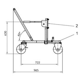 Positioning Trolley For ISO Support Jacks