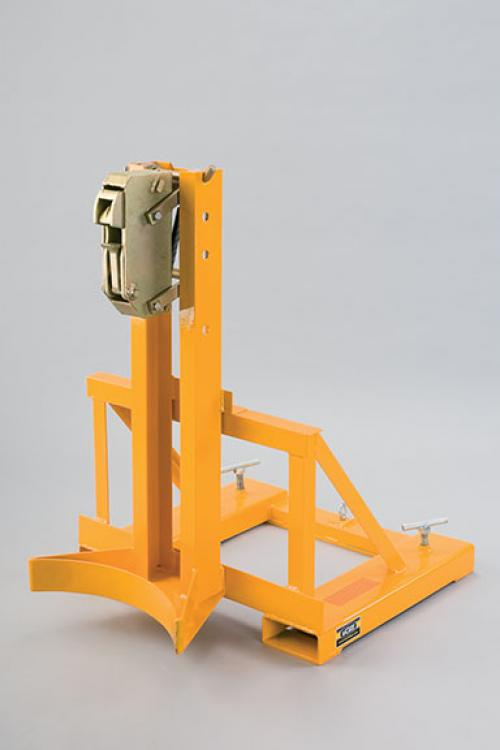 Single Rim Grip Drum Grab Forklift Attachment