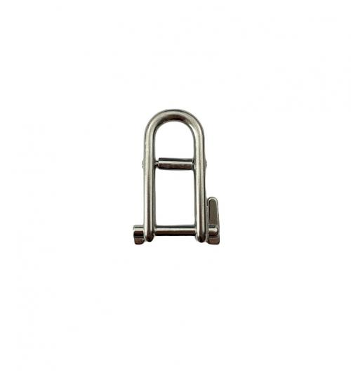 Stainless Steel Double Bar Long Flat Dee Shackle with Locking Pin