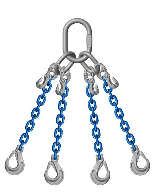 Grade 10 4 Leg 7mm Chain Slings 4.00 Tonne