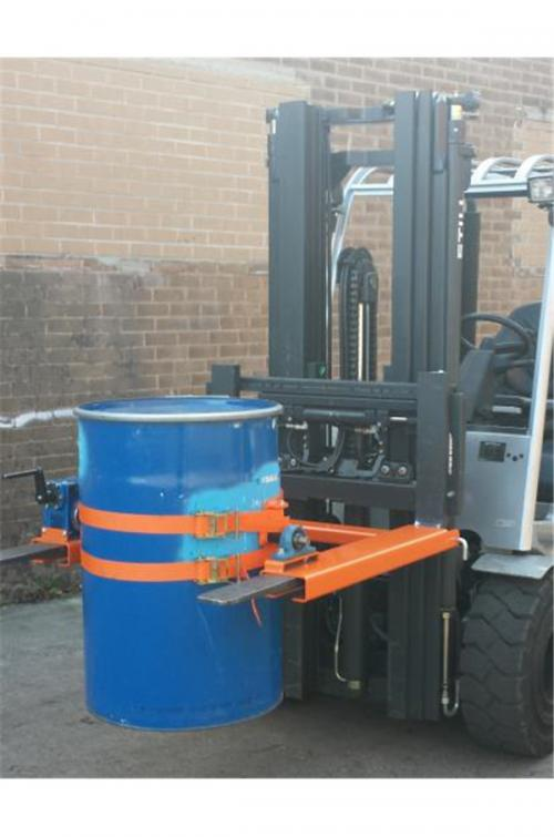 Fork Mounted Drum Tilter With Gearbox
