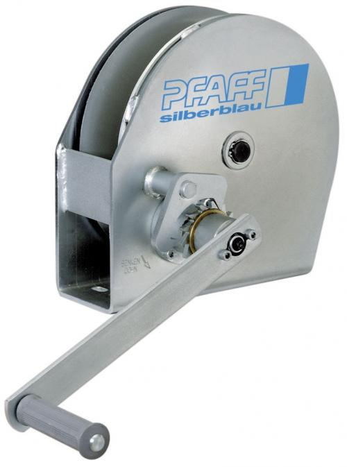 Pfaff Silberblau Stainless Steel LB Base/Column Mounted Wire Rope Winch