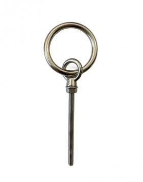 Stainless Steel Long Shank Ring Bolt