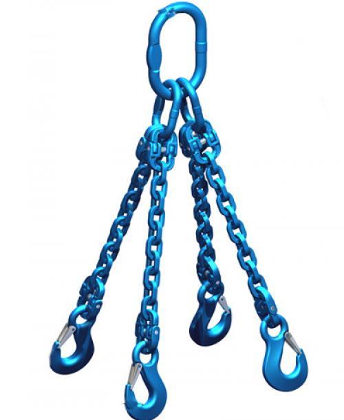Pewag Grade 12 8mm Chain Sling 6.30 Tonne 4 Leg