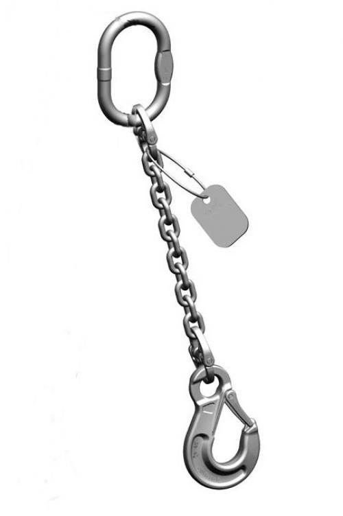 Pewag Grade 6 1 Leg 7mm Stainless Steel Chain Sling 1.25 Tonne