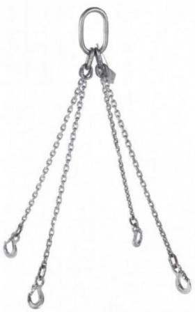 Pewag Grade 6 4 Leg 10mm Stainless Steel Chain Sling 4.25 Tonne