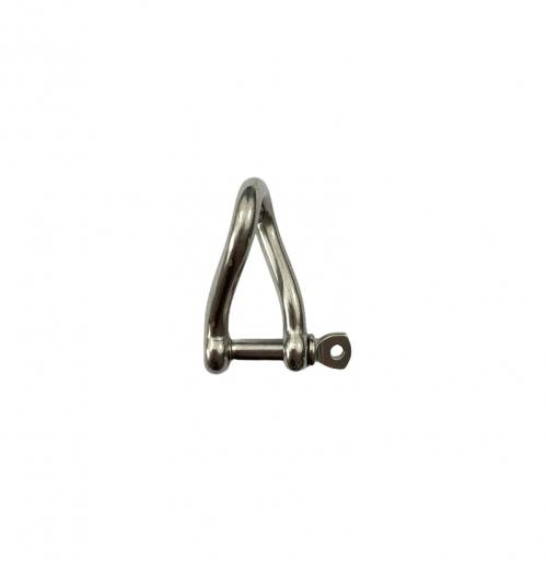Stainless Steel Twisted Dee Shackle