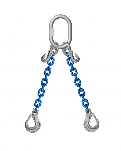 Grade 10 2 Leg 19mm Chain Slings 20.00 Tonne